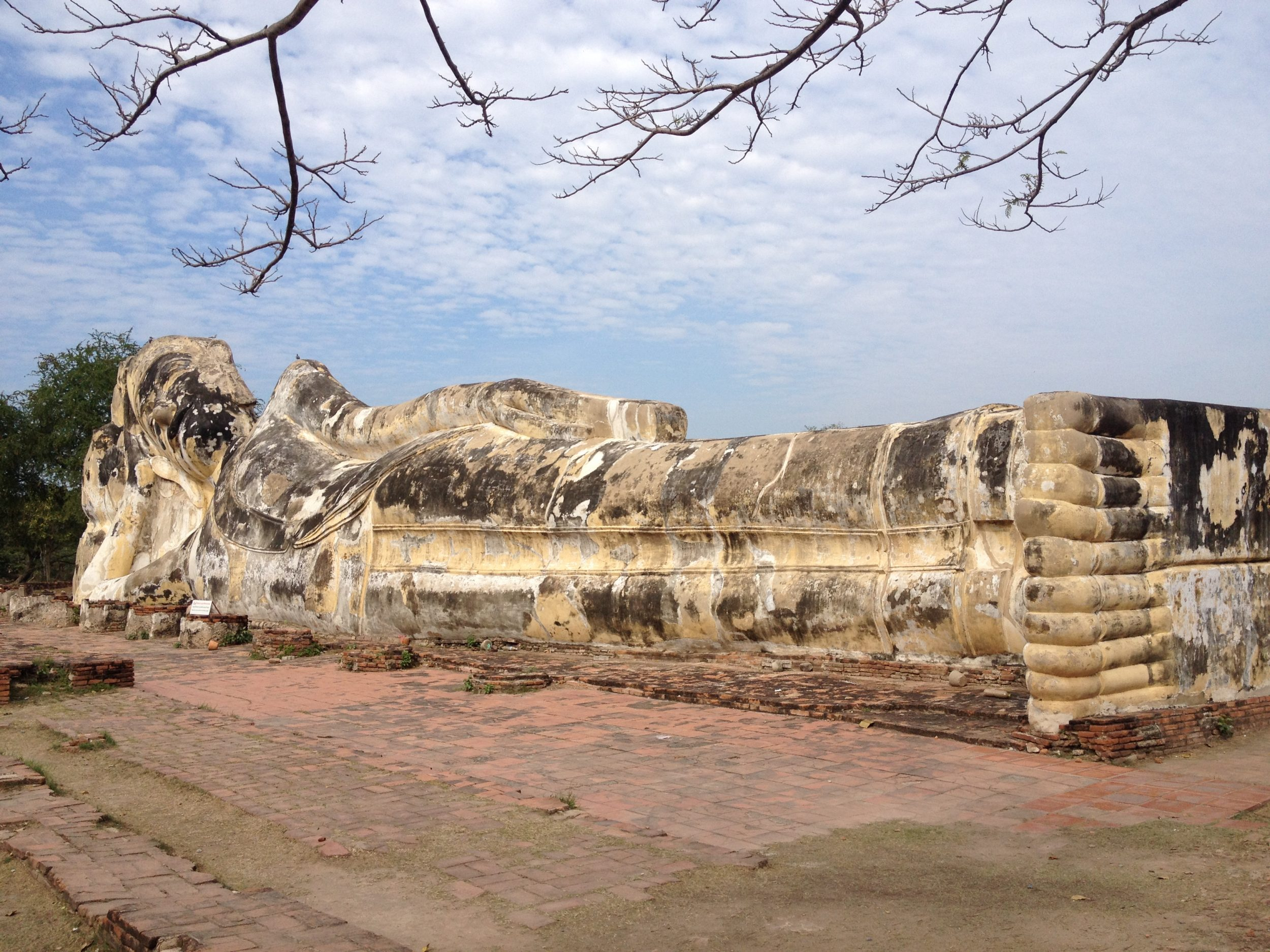 Enormous reclining Buddha in Ayutthya, Thailand