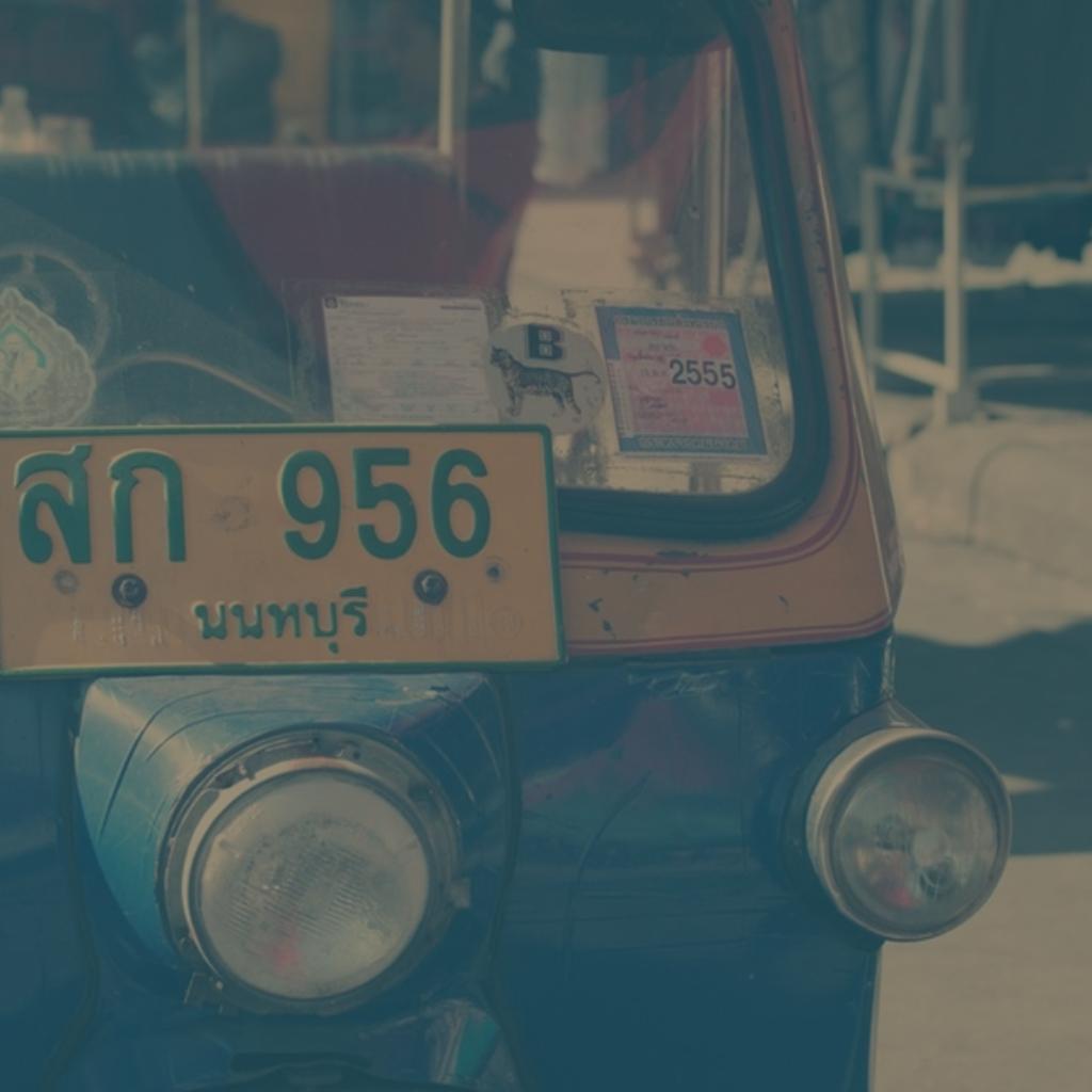A Thai Tuk Tuk, an auto rickshaw