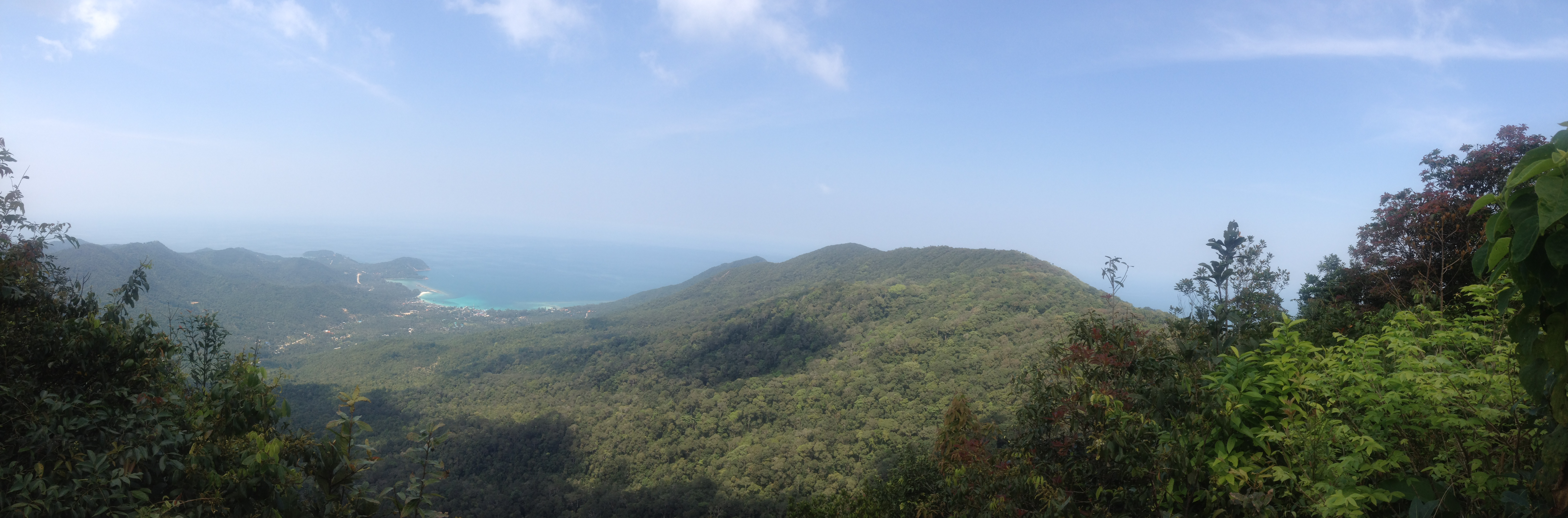 The view from Khao Ra, the highest point on Koh Phangan