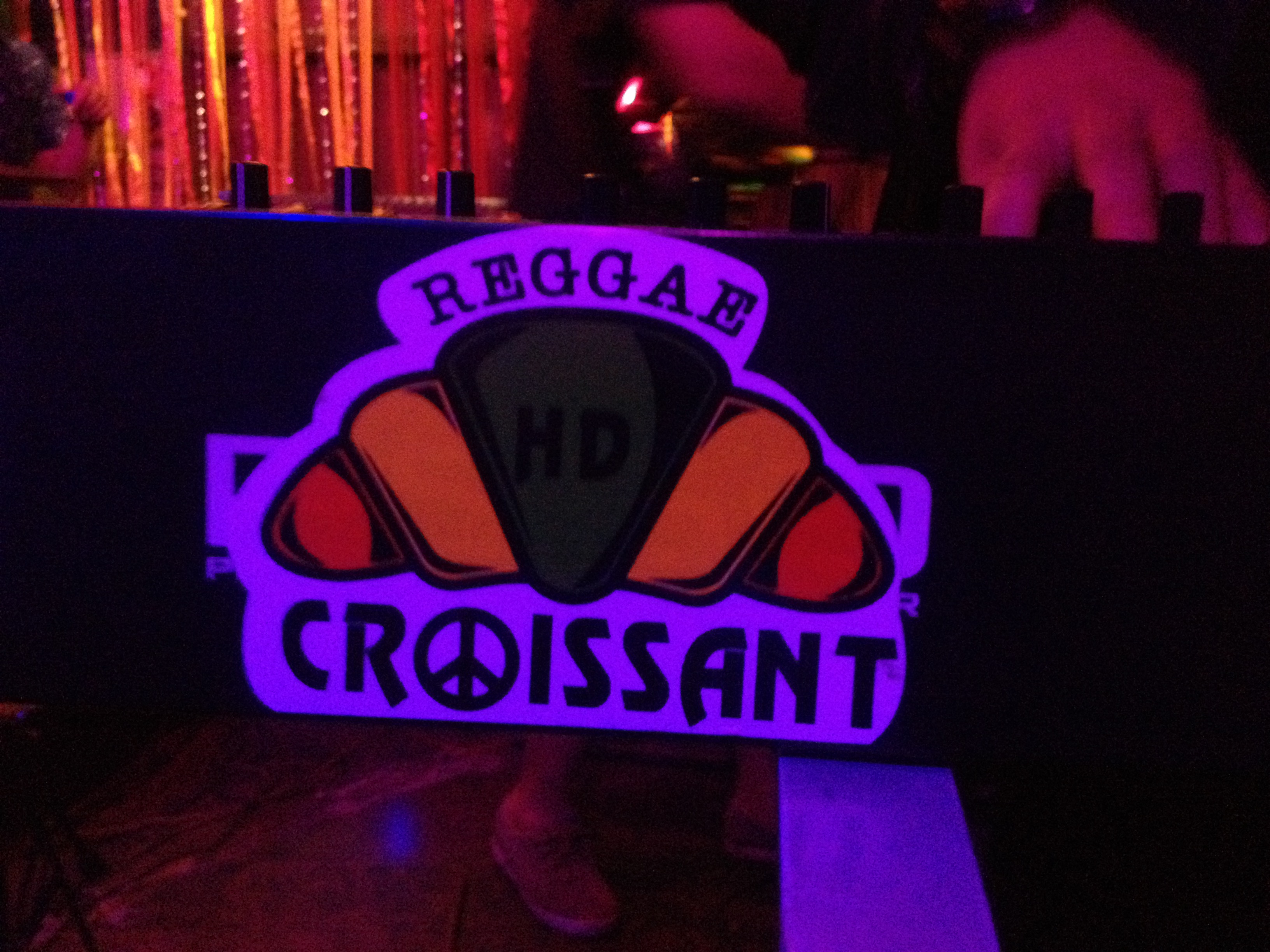 The logo for Reggae Croissant, a reggae cover band in Chiang Mai