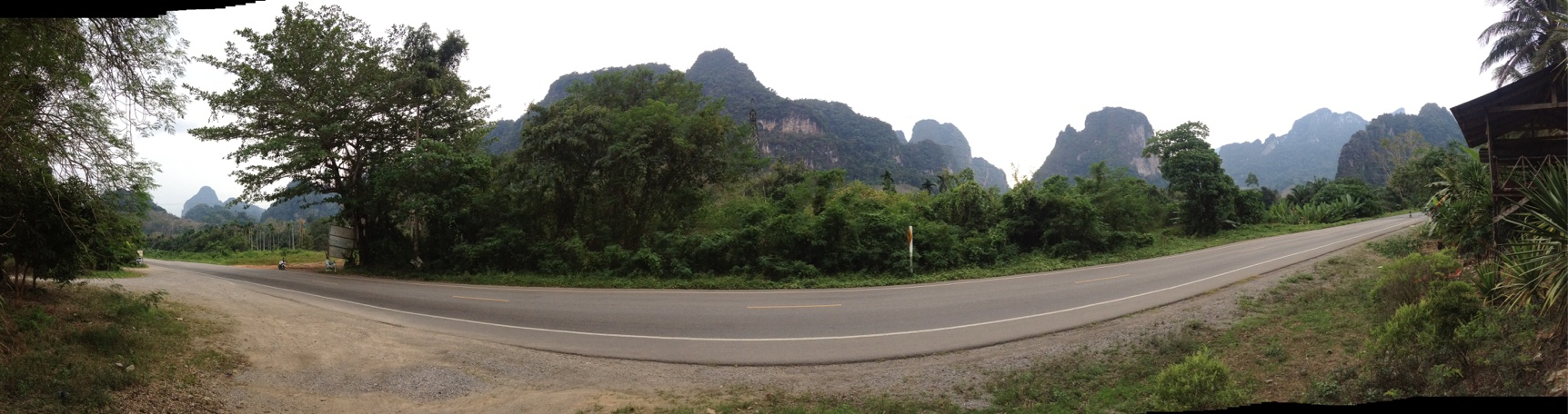 Limestone karst formations in Khao Sok National Park