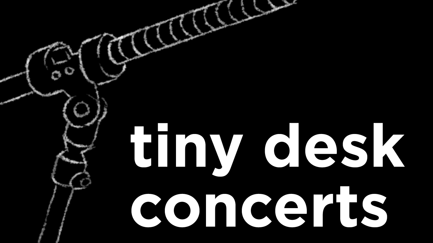 The logo for NPR Tiny Desk Concerts, a YouTube channel