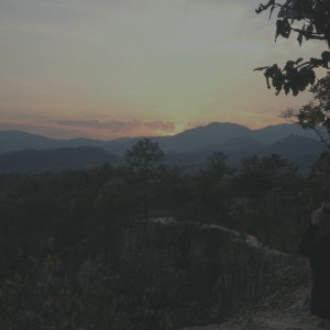 Sunset at Pai Canyon in Thailand