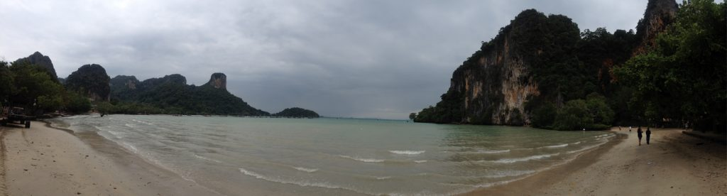 A panorama of Railay's east beach