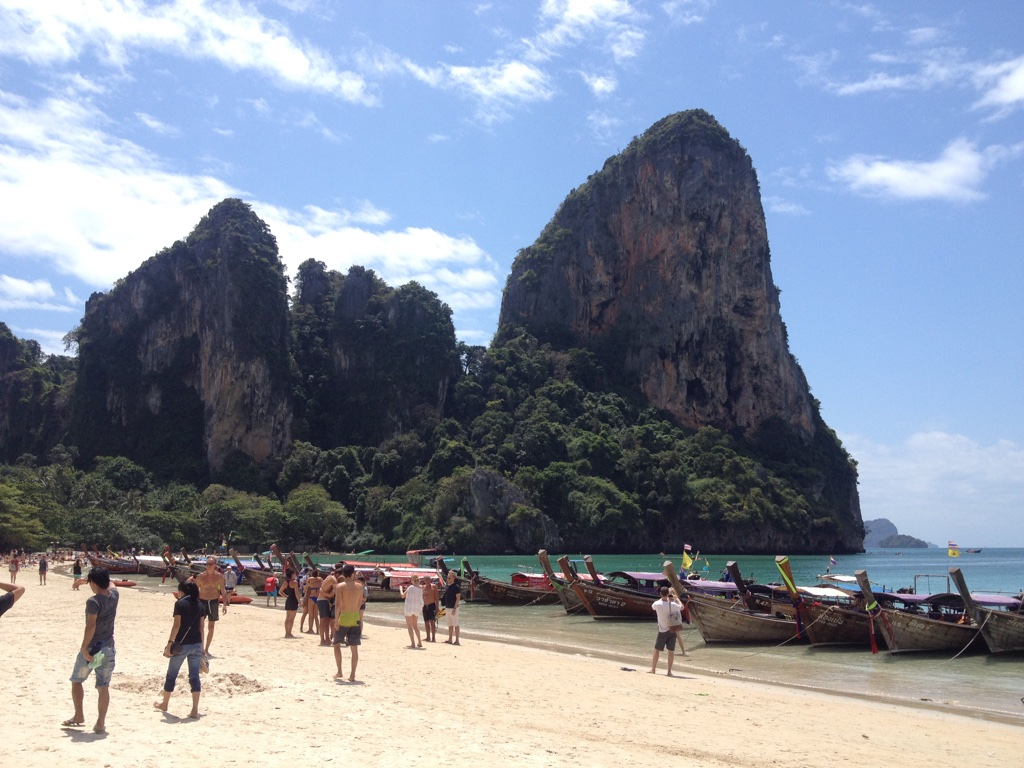 Limestone karst formations in Railay