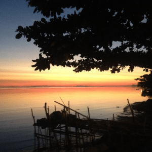 A photo of the sunset in Koh Phangan, taken from the beach