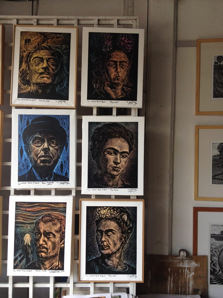 Portraits of artists from i Mon art gallery in Phuket
