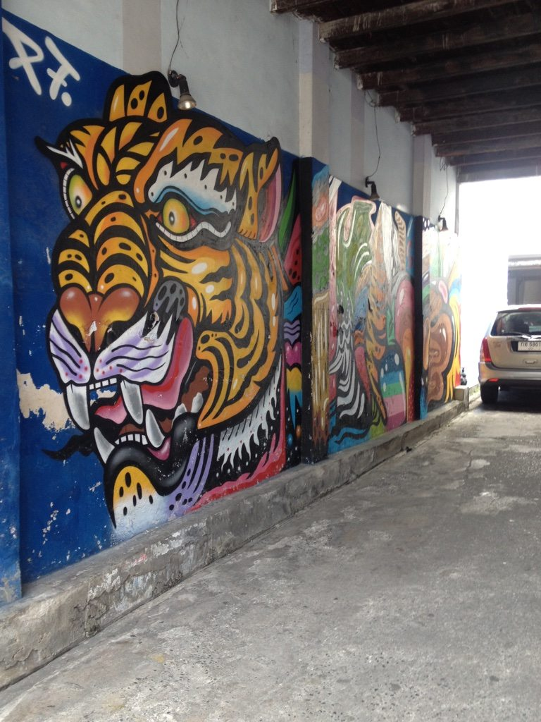 Graffiti of a lion from Phuket old town