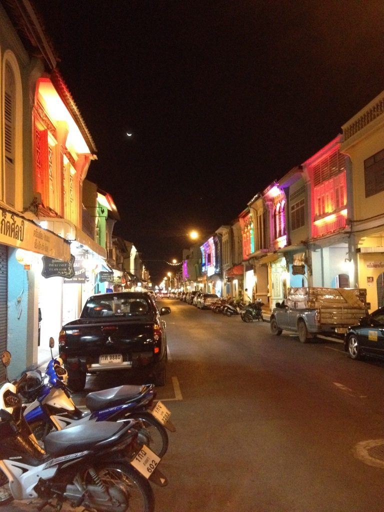 One of the main streets in Phuket Old Town