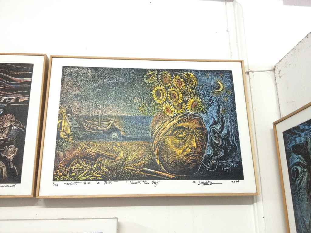 A portrait of Vincent Van Gogh from i Mon art gallery in Phuket