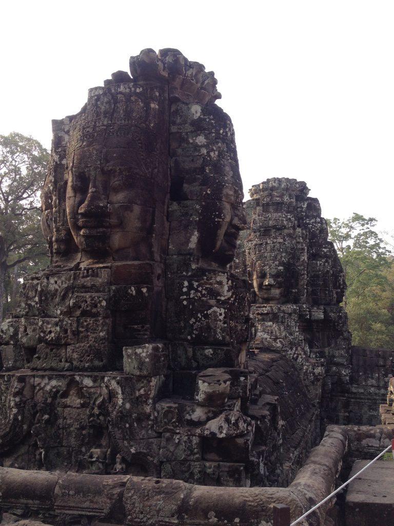 Stone faces at Bayon temple, Angkor Wat