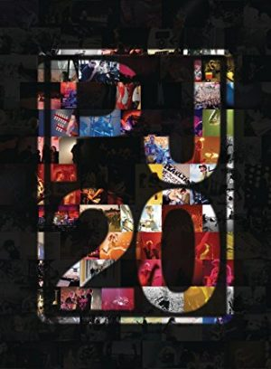 The cover of the DVD of the film Pearl Jam Twenty