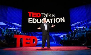Ken Robinson presenting his TED talk on how whether schools kill creativity