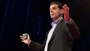 Dan Pink presenting his TED talk on the puzzle of motivation