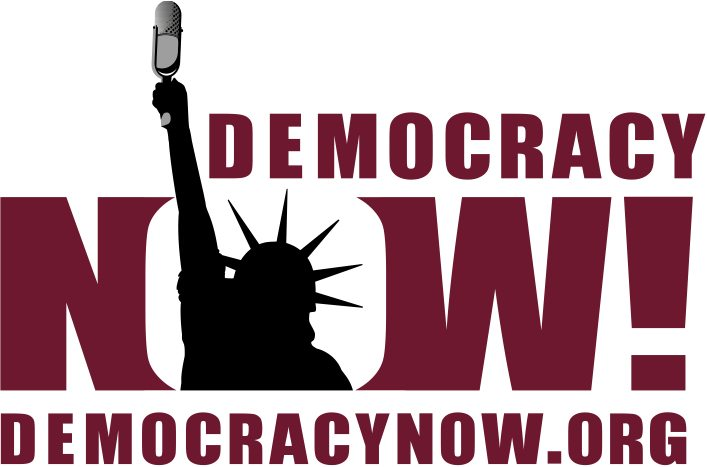 The logo for Democracy Now!, the independent news website