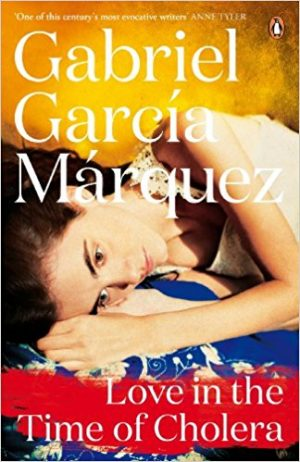 The cover of the book Love in the Time of Cholera by Gabriel García Márquez