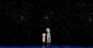 Rick and Morty contemplating the meaning of life