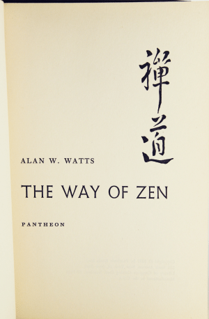The cover of The Way of Zen by Alan Watts, an introduction to Zen Buddhism