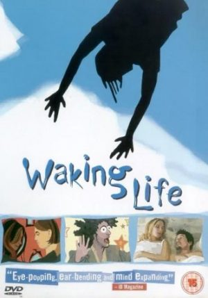 The cover of the DVD for Waking Life, an exploration of the boundary between sleep and being awake