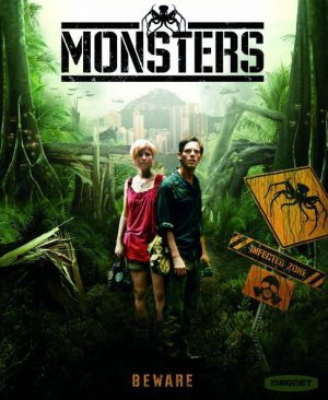 The cover of the DVD for Monsters, low-budget film that was made against all the odds