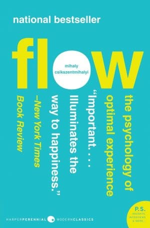 The cover of the book Flow by Mihaly Csikszentmihalyi