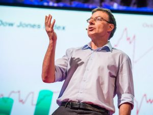 Didier Sornette presenting his TED talk on how to predict the next financial crisis