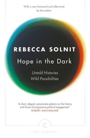 The cover of the book Hope in the Dark by Rebecca Solnit