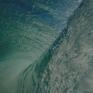 A close up of a wave