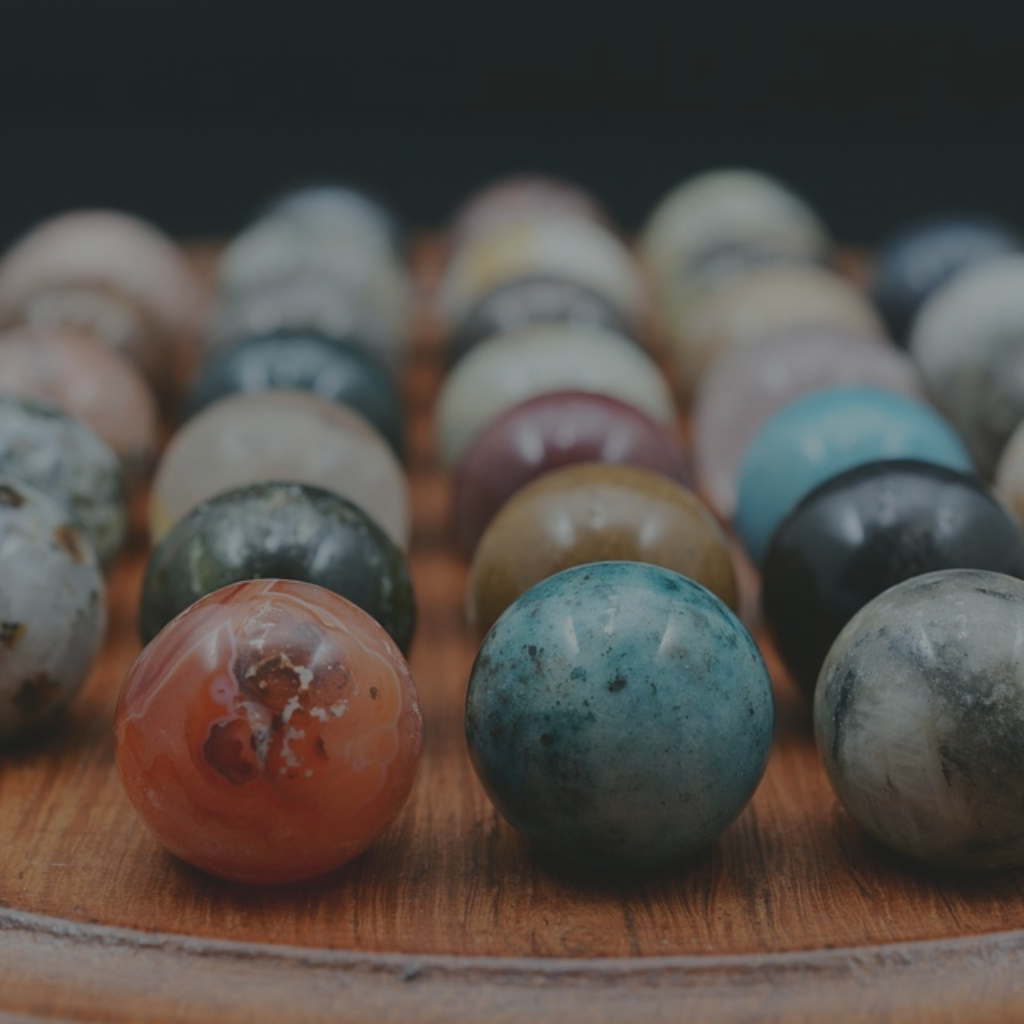 A close-up of some marbles, representing the subjectivity of quality