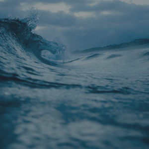 A close-up of a wave breaking, representing effortless decision-making