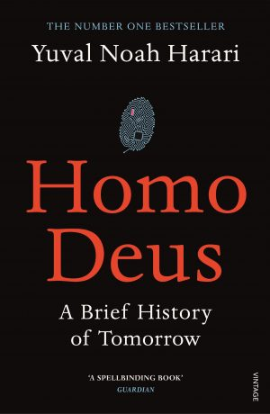 The cover of the book Homo Deus by Yuval Noah Harari