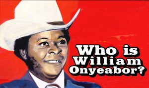 Who is William Onyeabor? A picture of William Onyeabor, the Nigerian funk artist