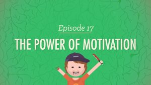 The title for the Crash Course video on the power of motivation