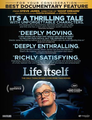 The cover of the DVD of Life Itself, the story of Roger Ebert's life