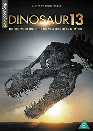 The cover of the DVD of Dinosaur 13, a documentary on the discovery of the largest T. Rex fossil ever found
