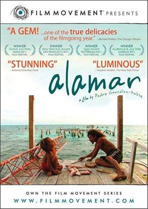 The cover of the DVD of Alamar, the story of a boy visiting his father on the Banco Chinchorro, the biggest coral reef in Mexico
