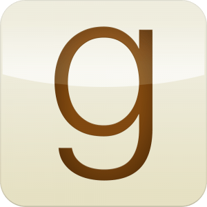 The logo for Goodreads, the social network for reading