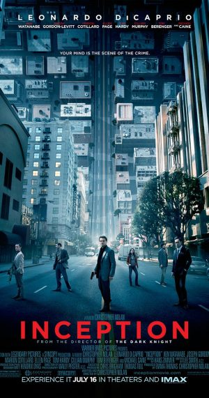 The cover of the DVD of Inception, the mind-bending film from Christopher Nolan