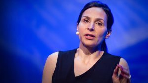 Sandrine Thuret presenting her TED talk on we can grow new neurons (brain cells)