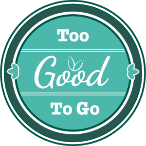The logo for Too Good to Go, an app that fights food waste and provides cheap meals.