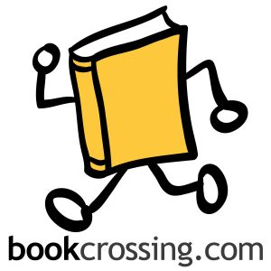 The logo for BookCrossing, an online community for sharing books